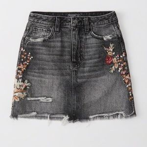 Abercrombie and Fitch Floral Distressed Skirt